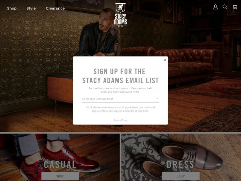 Stacy Adams Shoes 20% Coupon